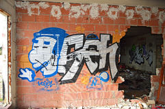 Art And Graffiti On un edificio foto de archivo