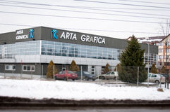 Art grafica typography building. Romanian typography of art grafica in bucharest royalty free stock images