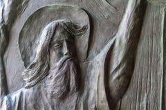 Art gravant en refief en Stella Maris Monastery à Haïfa, Israël Photo stock