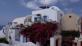 Art greece santorini landscape, traditional country yard stock footage