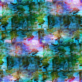 Art green background watercolor seamless texture. Abstract paint pattern stock illustration