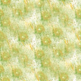 Art Green, gota amarilla de la pintura de la tinta de la acuarela Imagen de archivo