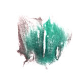 Art Green, grey watercolor ink paint blob Royalty Free Stock Images