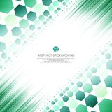 Art of green molecules abstract background. Soft gradient of technology line design. Stock Images