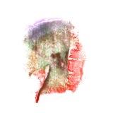 Art Green, violeta, rojo, pintura negra de la tinta de la acuarela Imágenes de archivo libres de regalías