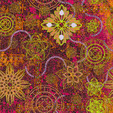 Art grunge background. Pattern arabian stock illustration