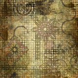 Art grunge background. Art grunge floral aged background Stock Image