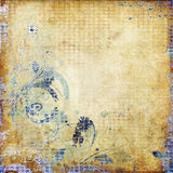 Art grunge background card. Art grunge floral background card Royalty Free Stock Photography