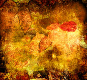 Art grunge background with leaves royalty free stock images