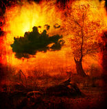 Art grunge background showing wasteland and polluted nature Royalty Free Stock Photos
