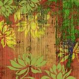 Art grunge floral background. Art grunge floral vintage background Stock Images