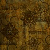 Art grunge floral background. Card Stock Photography