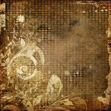 Art grunge floral background Stock Images