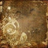 Art grunge floral background. Card Stock Images