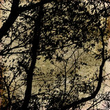 Art grunge forest background Royalty Free Stock Image