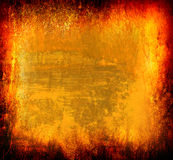 Art grunge frame. In yellow, orange and red tones stock illustration