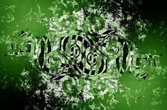 Art grunge green abstract pattern background. Art grunge green abstract pattern illustration background vector illustration
