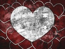 Art grunge heart pattern background Stock Image