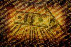 Art grunge money background Royalty Free Stock Photo