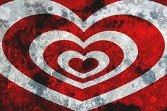 Art grunge red heart abstract background. Art grunge red heart abstract illustration background Royalty Free Stock Image