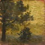 Art grunge tree background Royalty Free Stock Image