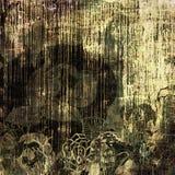 Art grunge vintage background. Art grunge vintage floral background Stock Images