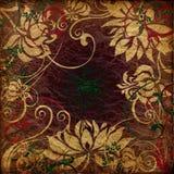 Art grunge vintage background. Art grunge vintage floral background Stock Image
