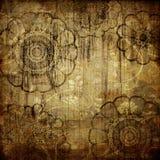Art grunge vintage floral background. Abstract floral grunge aged background Stock Images