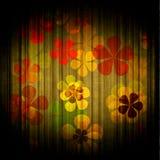 Floral background. Art grunge vintage floral background vector illustration