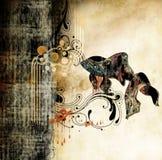 Art grunge vintage texture background. Retro style royalty free illustration