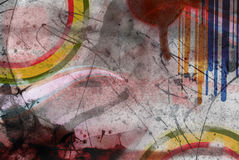 Art grunge on the wall. Color art grunge on the wall Royalty Free Stock Photos