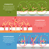 Art Gymnastics Horizontal Banners Photographie stock libre de droits