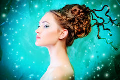 Art hairstyle stock photography