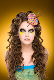 Art Hairstyle. Soft focus. Stock Photos