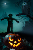 Art  Halloween night background Royalty Free Stock Photography