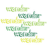 Art hand drawn text wonder Royalty Free Stock Images