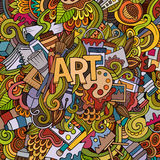 Art hand lettering and doodles elements background Stock Photos