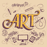 Art hand-lettering typography card Royalty Free Stock Photos