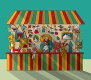 Art hand made fair toys seller. Royalty Free Stock Photos