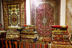 Art and Handicraft of Persian Carpets Royalty Free Stock Images