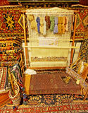 Art and Handicraft of Persian Carpets. Persian Carpets from a traditional store in the grand bazaar of Isfahan,Iran Stock Images