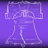 Art Handmade Drawing Liberty Bell illustration stock