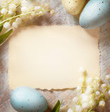 Art Happy Easter-Karte Stockfoto