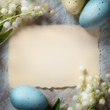 Art Happy Easter, tarjeta Imágenes de archivo libres de regalías