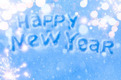 Art Happy New Year Greeting Card. Art Happy New Year lettering Greeting Card Stock Images