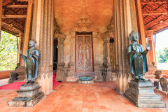 Art at Haw Pha Kaeo or Wat Pha Kaeo in Laos Stock Photos
