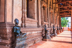 Art at Haw Pha Kaeo or Wat Pha Kaeo in Laos Stock Images