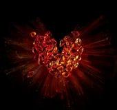 Art heart broken into pieces royalty free stock image