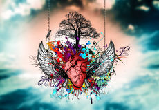 Art heart Royalty Free Stock Images