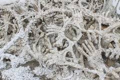 Art Hell Style in Wat Rong Khun Stock Images
